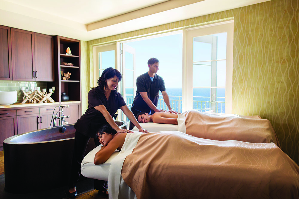 The Spa also offers couples' massages in an ocean-facing treatment room.