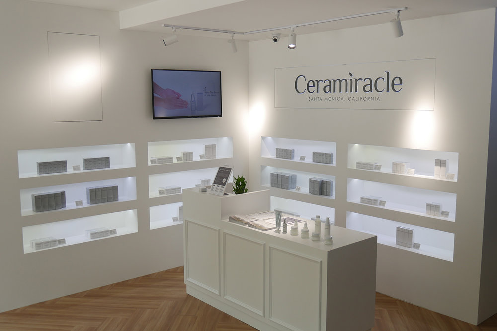 The Aesthetics Salon integrates Ceramiracle's proprietary facial treatments with its award-winning products.