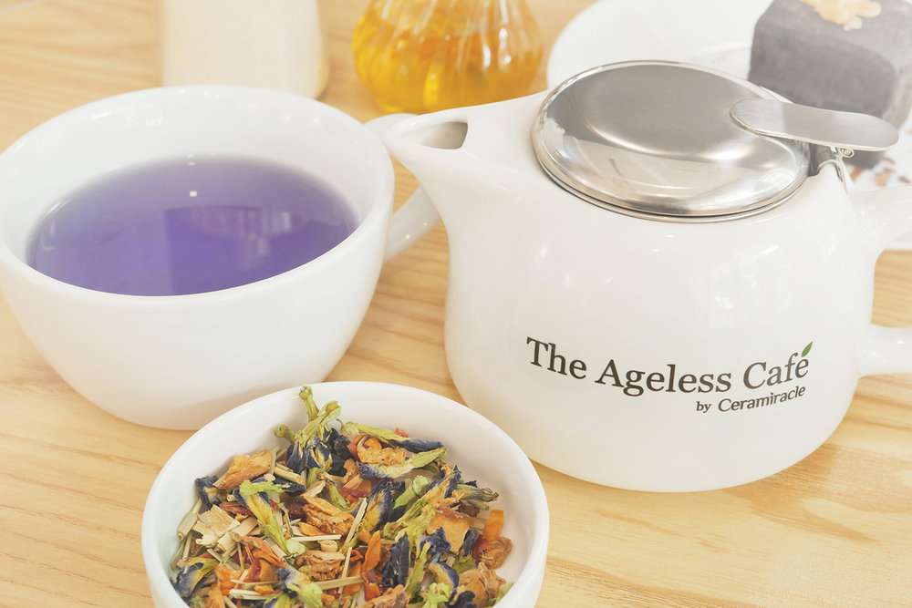 The Ageless Cafe serves custom all-organic brews to deliver the double benefits of beauty and wellness.