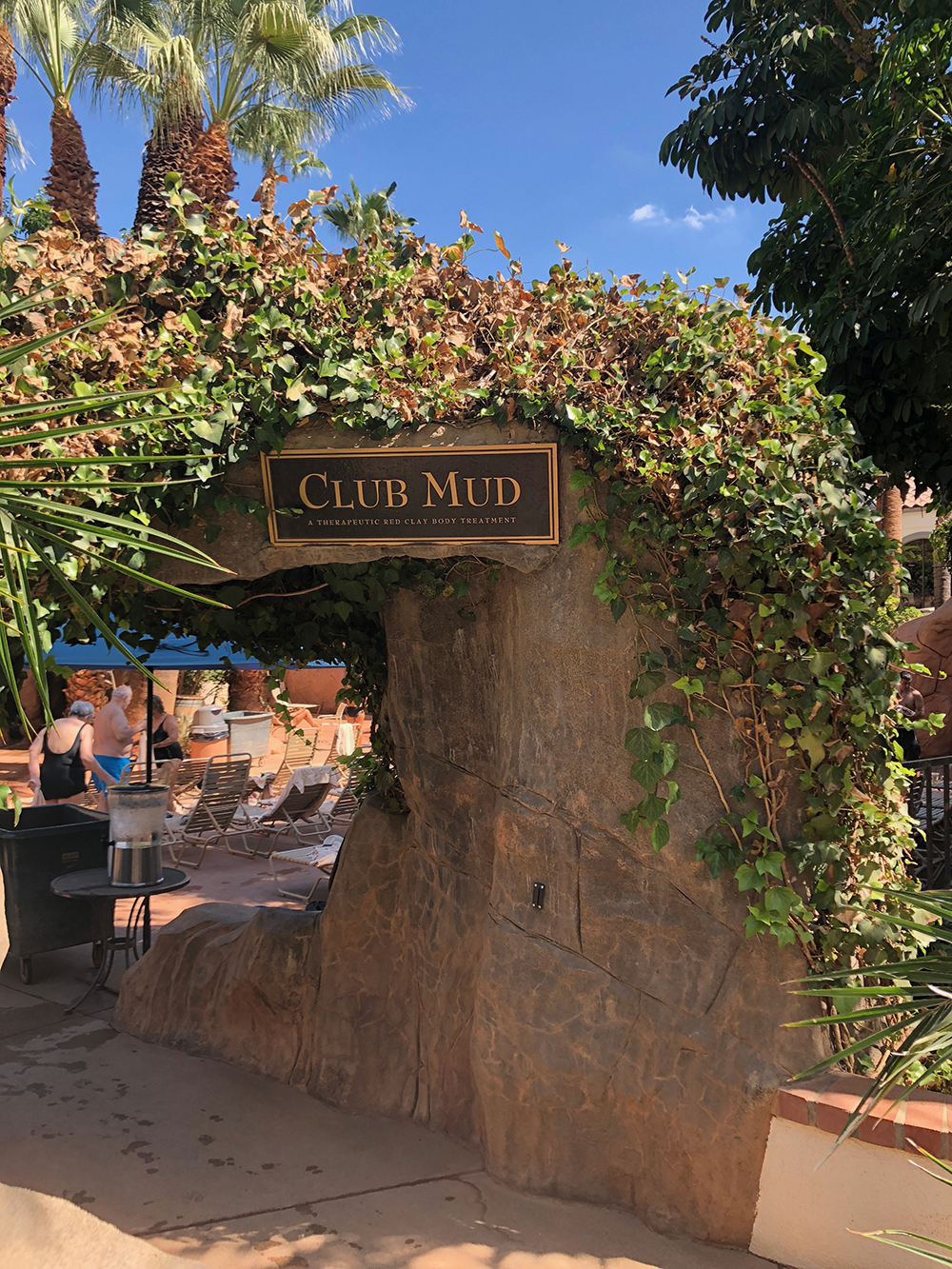 Club Mud features a spring water mud pool that exfoliates and cleanses skin.