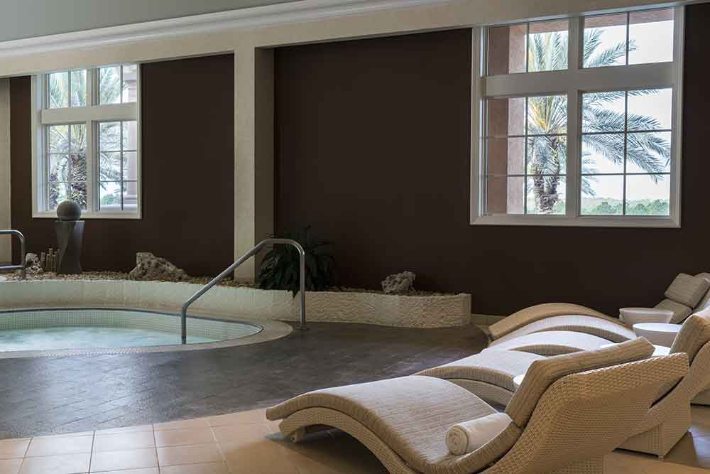 Men's wet room at the Ritz-Carlton Orlando Grande Lakes Spa.
