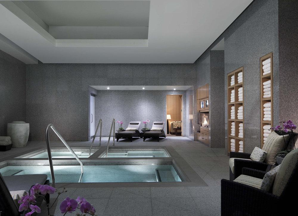 The hot tub at The Spa at ARIA.