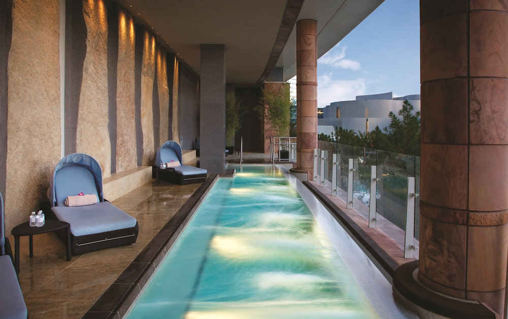 The Spa's relaxing outdoor pool.