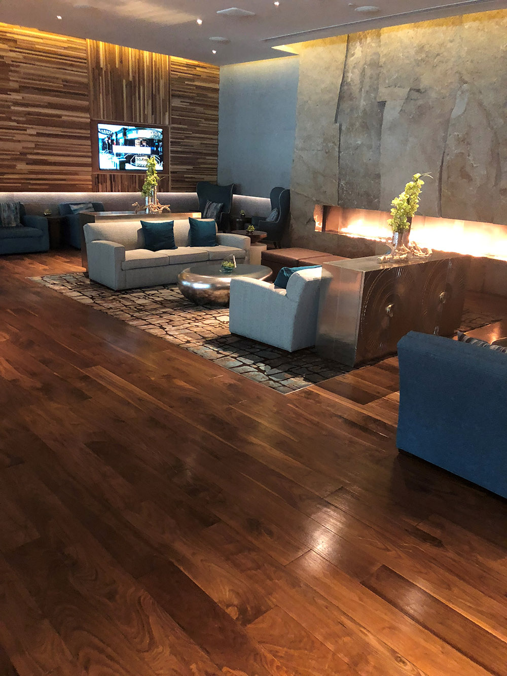 The Spa's fireside lounge.