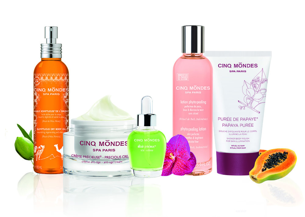 Cinq Mondes products are inspired by ancient beauty recipes and rituals around the world.