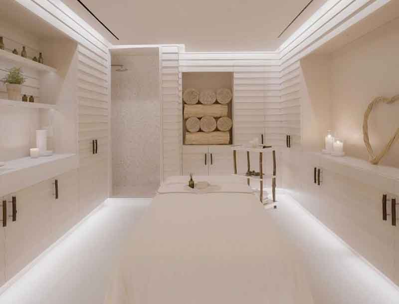 A relaxing treatment room.