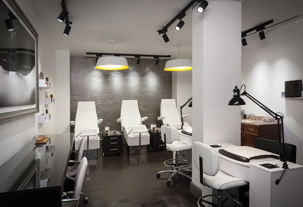 The spa also has a nail salon.
