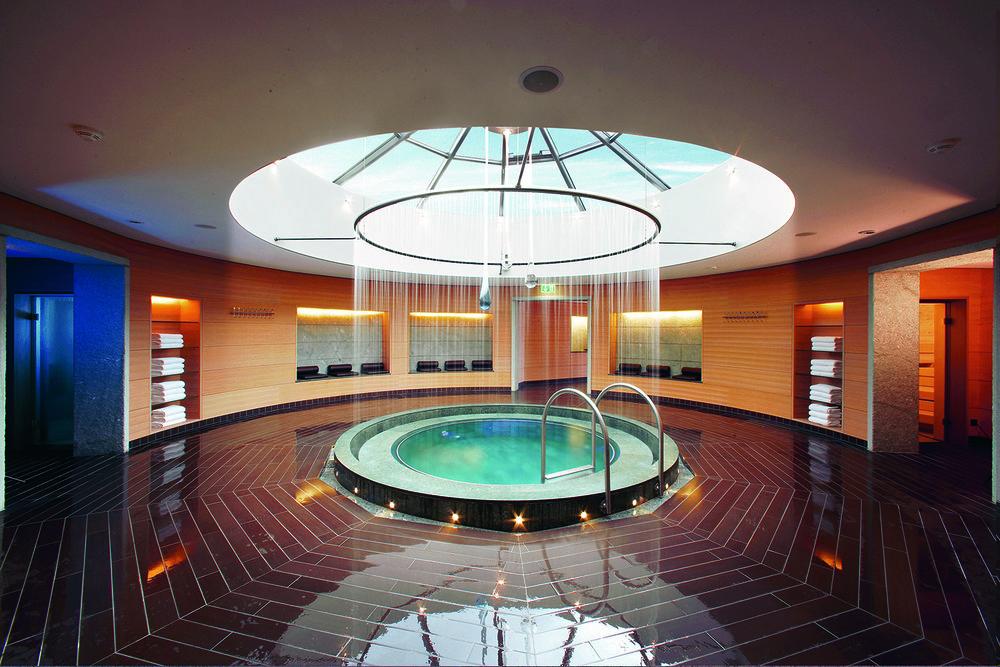 The spa is also home to steam baths, a Finnish sauna and a Swarovski steam bath.
