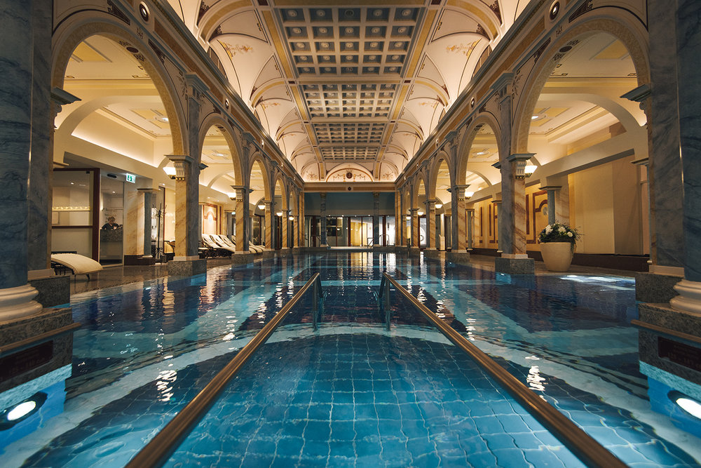 The thermal spa is an exclusive retreat for relaxation and recuperation.
