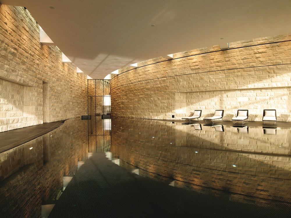 The spa is also home to an indoor pool.