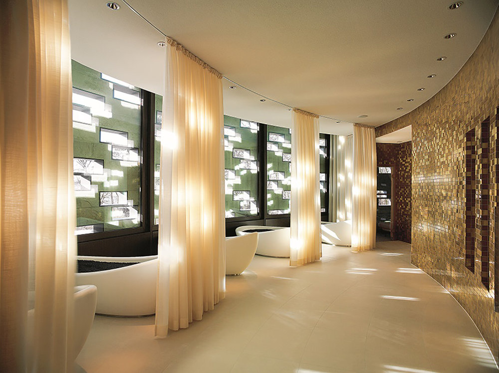 The spa has a chill-out where guests can meditate and relax.