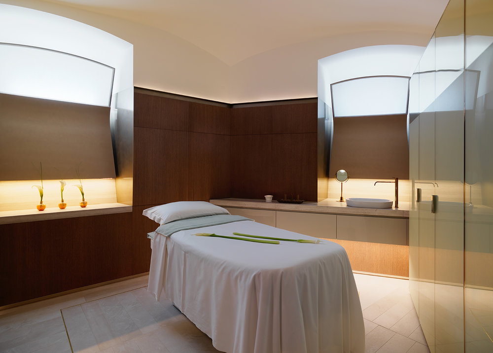 Treatment room at The Eden Spa in Hotel Eden.