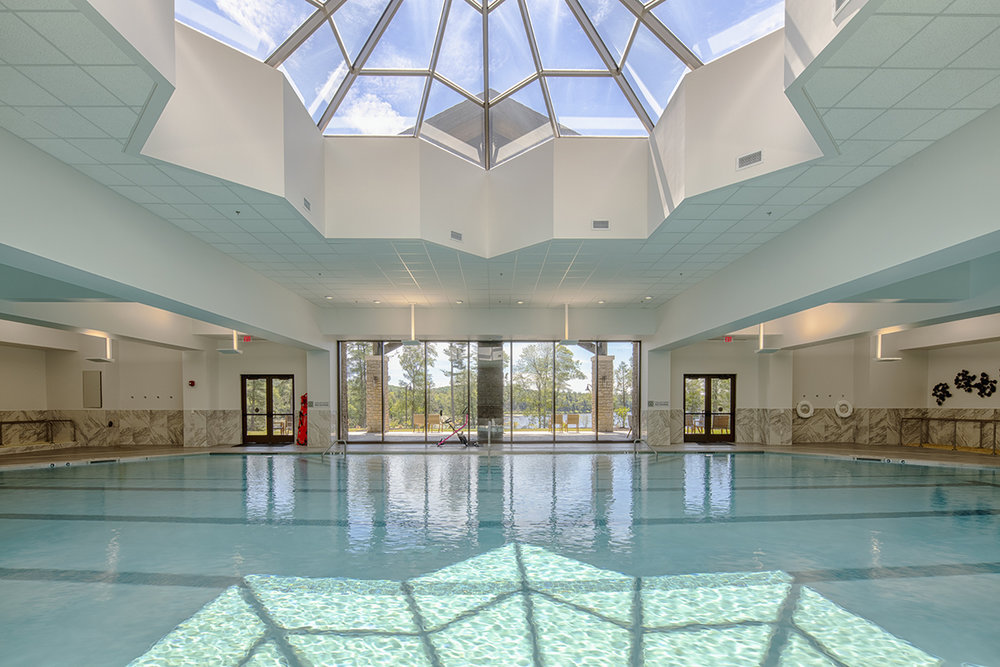 The indoor pool at YO1 Wellness Center.