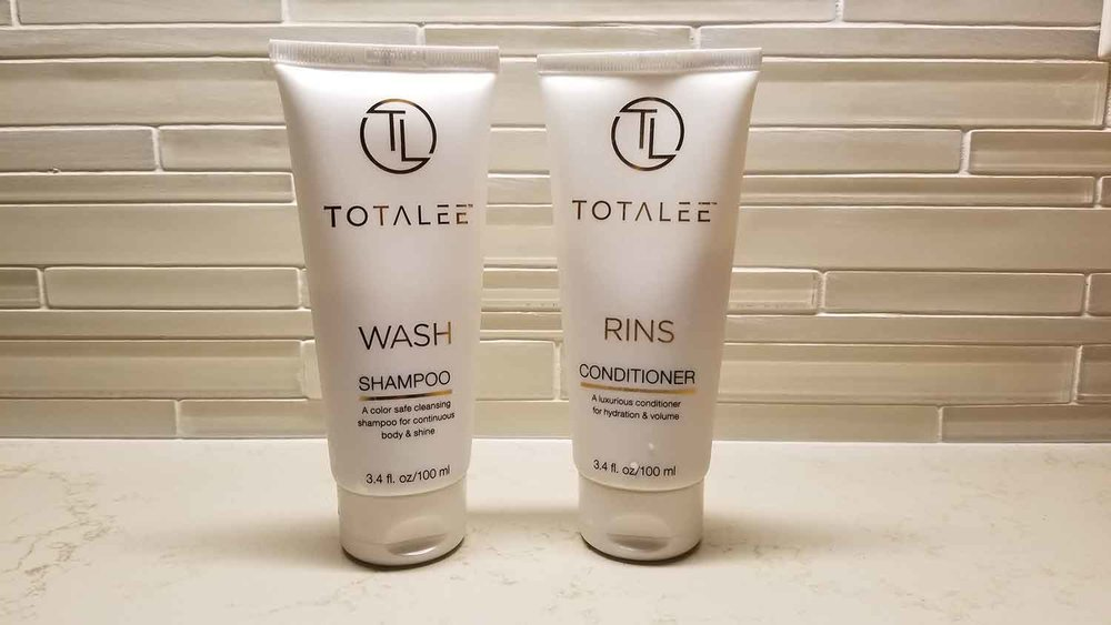 Totalee Wash and Rins from Global Hair Artist Lee Rittiner.