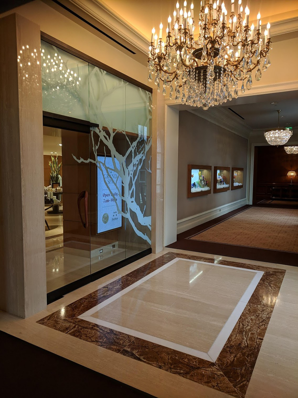 Walking into The Spa at The Grand.