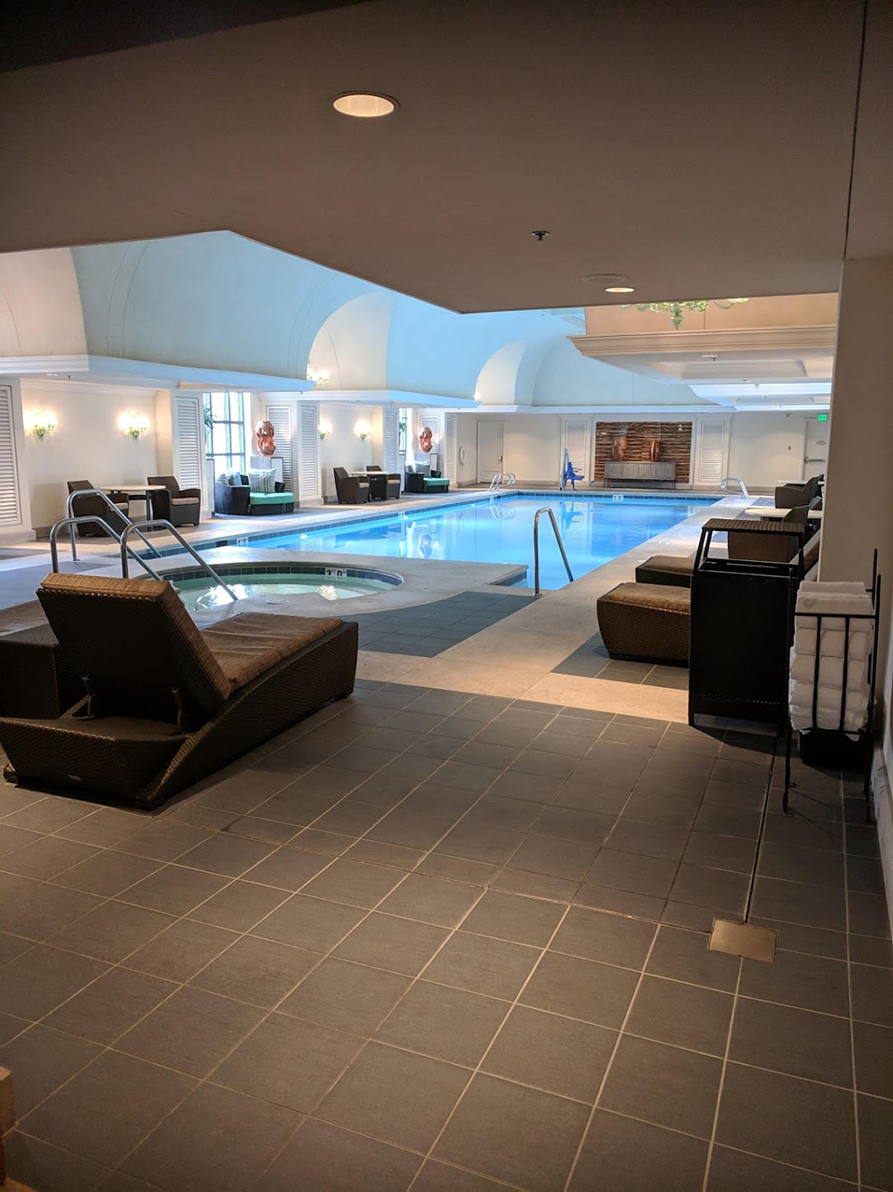 The Spa at The Grand's indoor pool and hot tub.