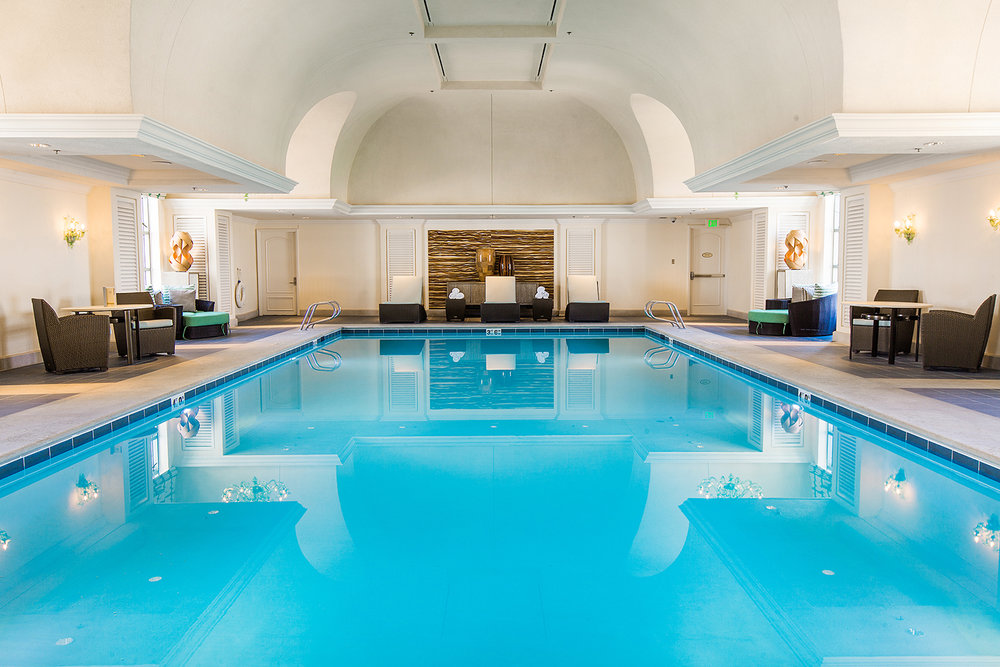 The indoor pool at The Spa at The Grand.