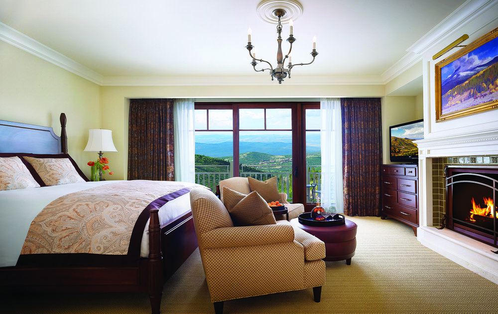 A well-appointed King Suite at the resort.
