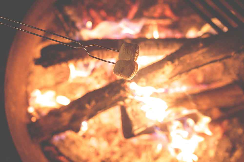 Enjoy s'mores in urban Tacoma at Puget Sound Pizza, Legendary Donuts or Camp Bar.