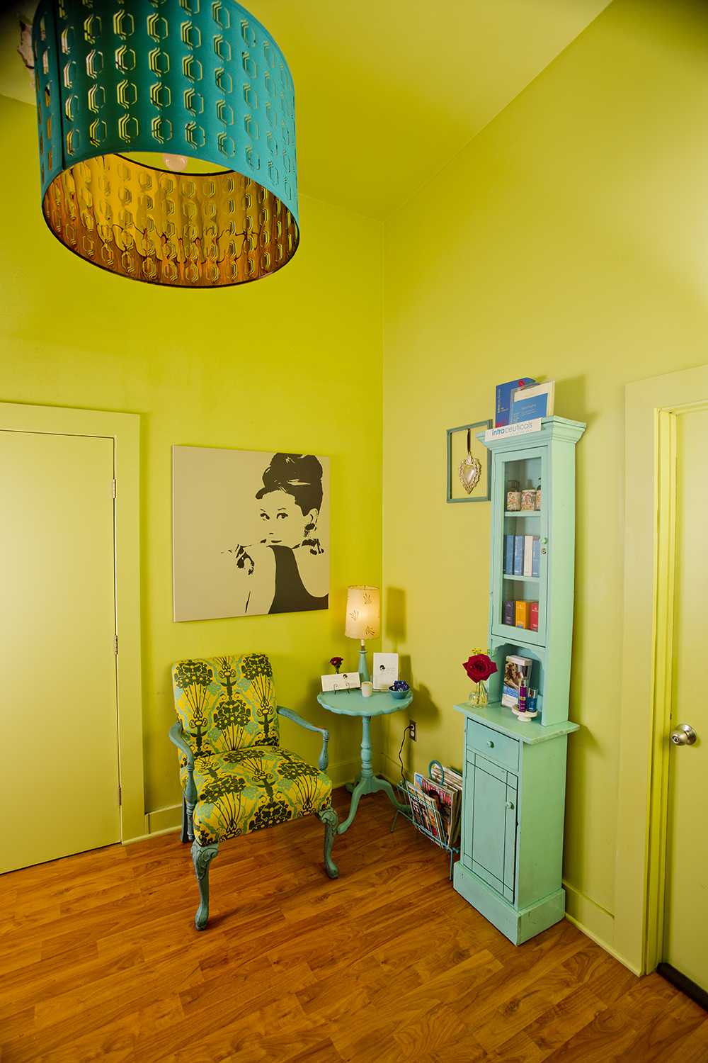 Doll Face Skincare Studio in Los Angeles features stylish retro vibes.