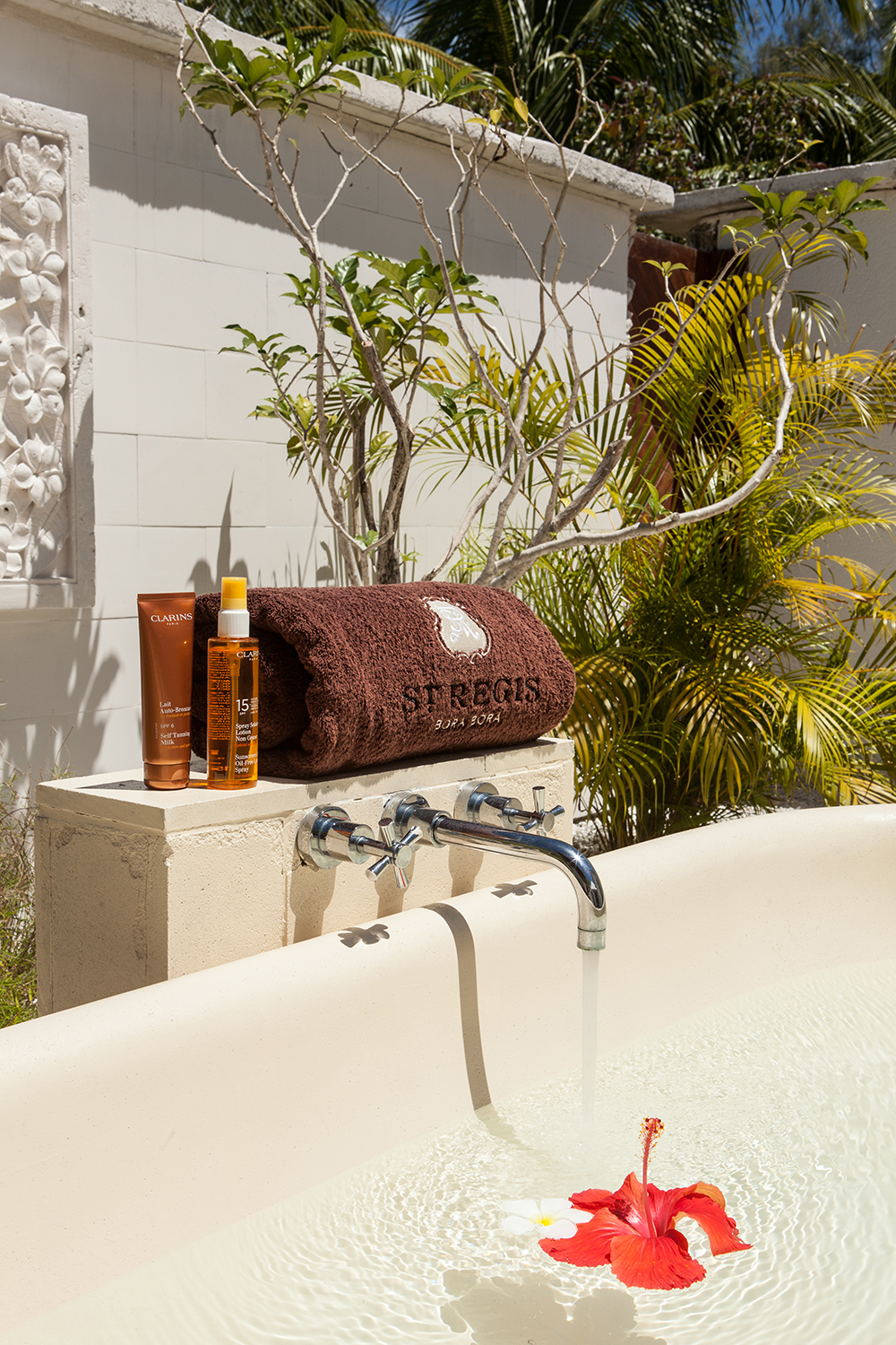 The Spa also offers relaxing water therapy treatments in the form of an essential-oil scented bath and open-air Vichy showers.