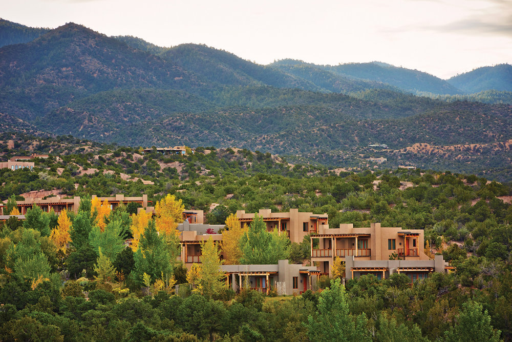 Four Seasons Resort Rancho Encantado is tucked into the Sangre de Cristo Mountains, just minutes from busy downtown Santa Fe, New Mexico.