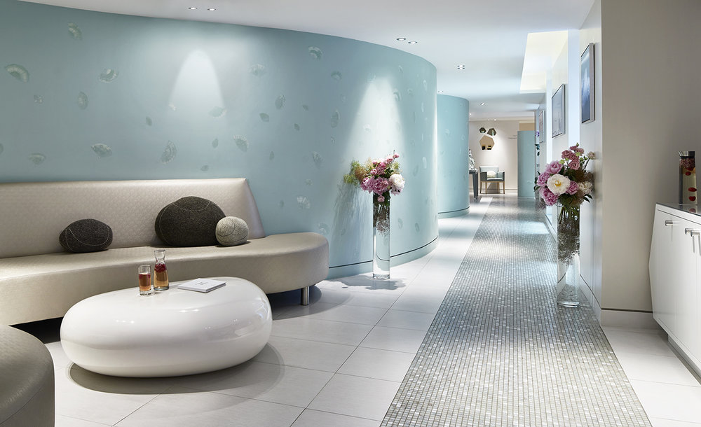 The spa waiting area and lounge.