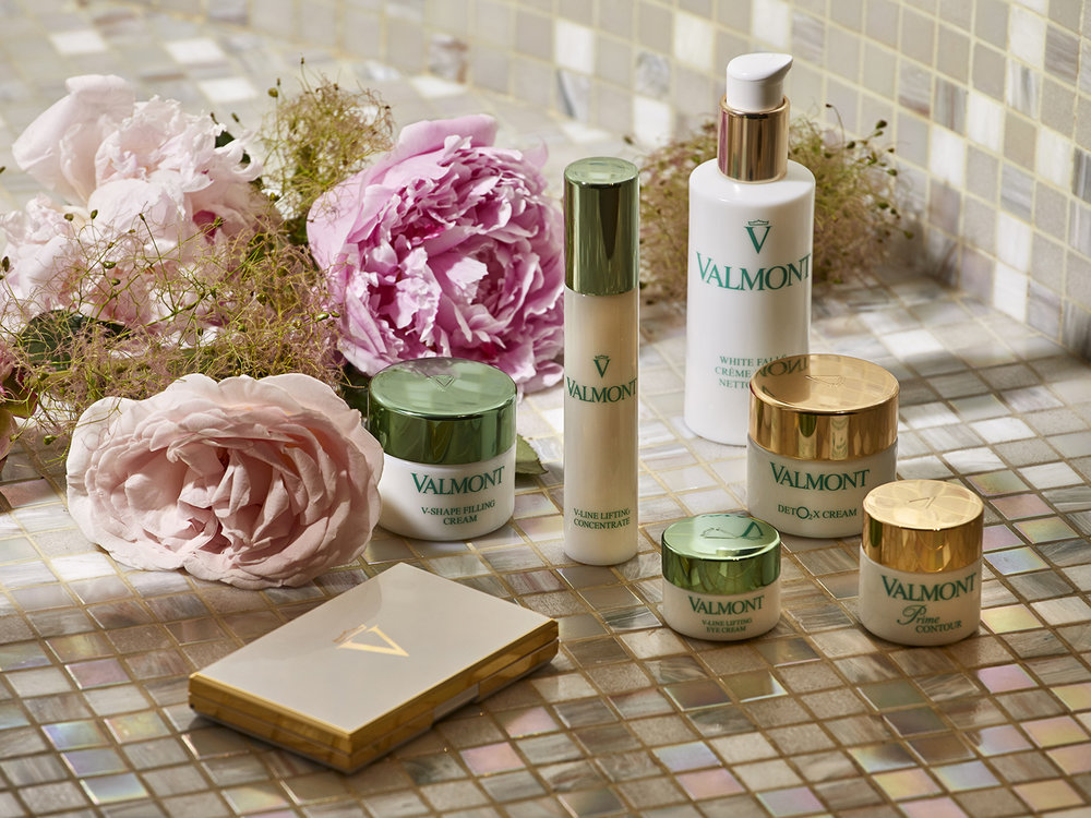 Swiss skin care brand Valmont is the featured product line at Spa Valmont.