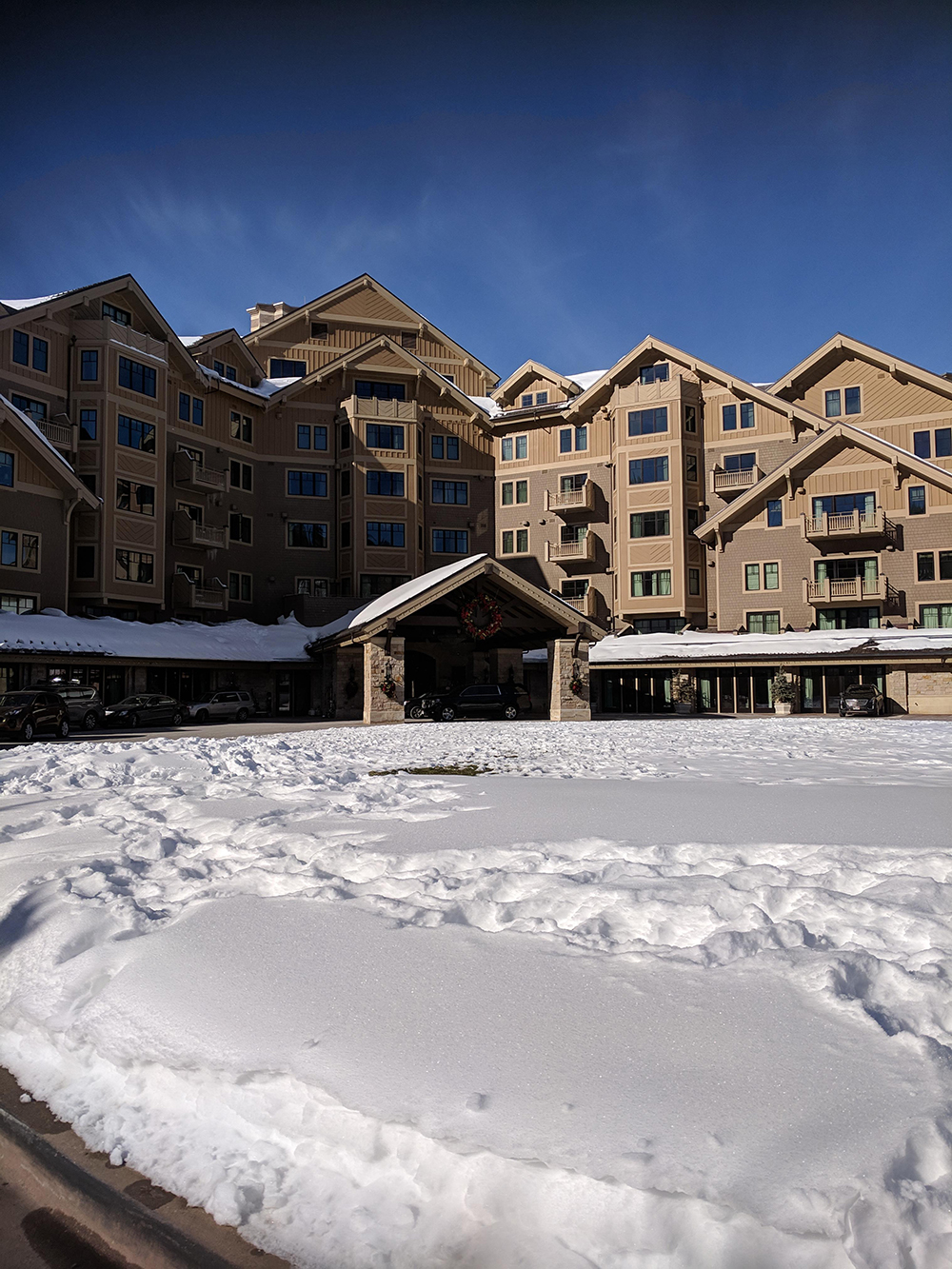 Pulling up for my spa day at Deer Valley Montage in Park City, Utah.