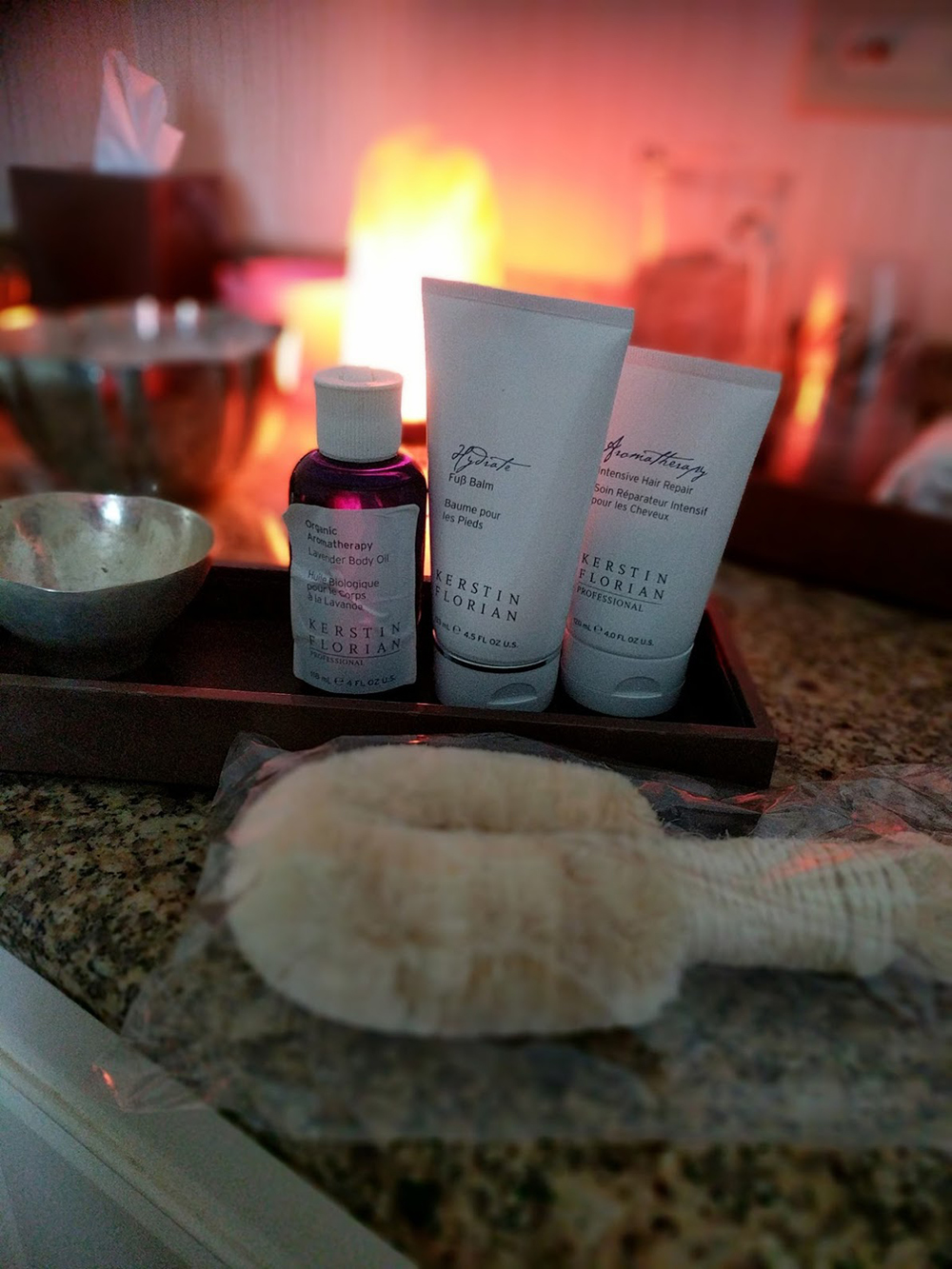Professional products from Kerstin Florian used during the Spa's Lavender Dreams body treatment.