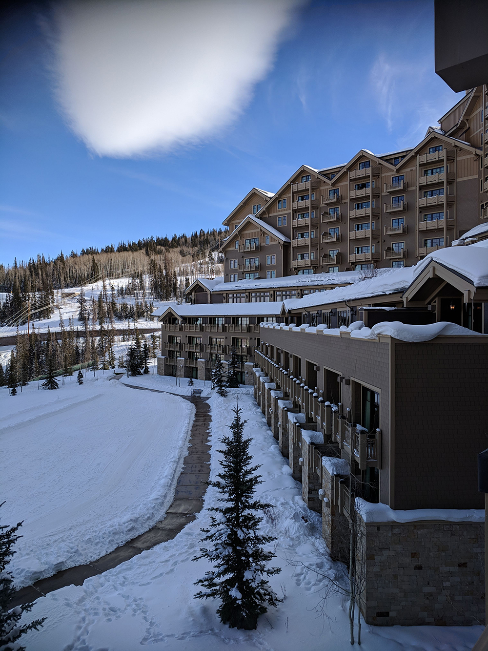 A lovely view of Deer Valley Montage from the treatment room balcony.