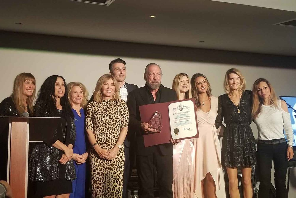 Paul Mitchell Co-Founder John Paul DeJoria was honored as a champion of critical legislation, along with Senator Nancy Skinner, Maggie Q, Joanna Krupa, Linda Middlesworth and Genesis Butler at Social Compassion in Legislation's Event Honoring Animal-Rights Pioneers.