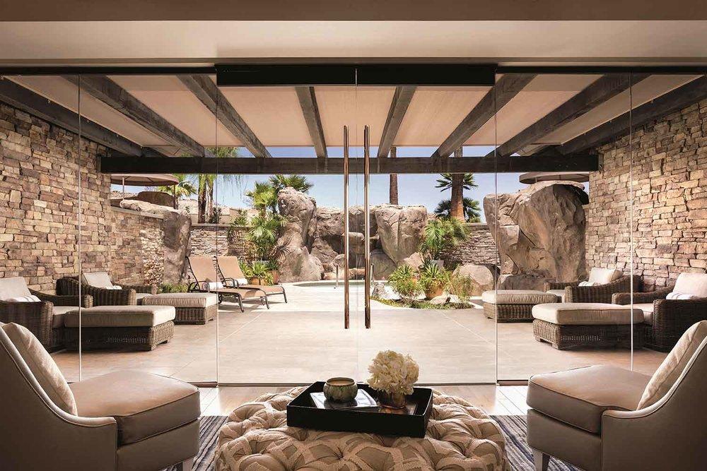 Beautiful views at The Ritz Carlton Spa, Rancho Mirage.