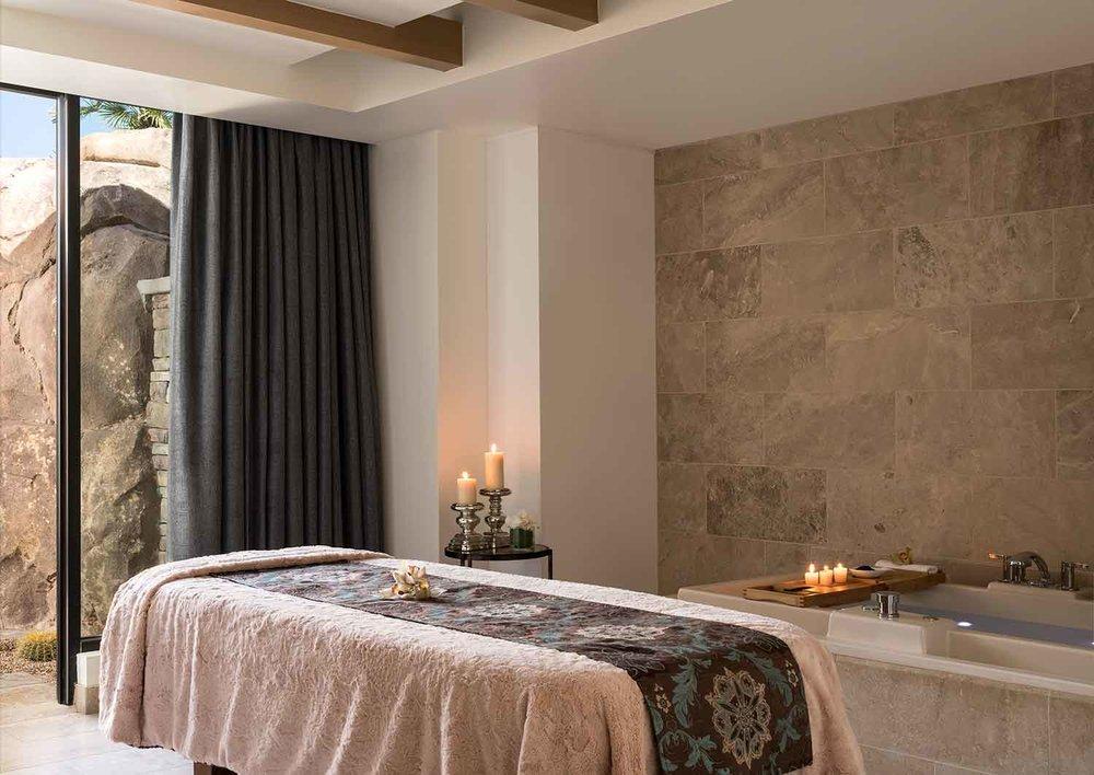 Treatment Room at The Ritz Carlton Spa, Rancho Mirage.