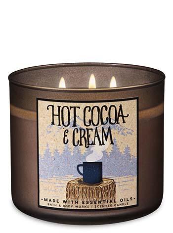 Bath & Body Works Hot Cocoa & Cream 3-Wick Candle ($10)