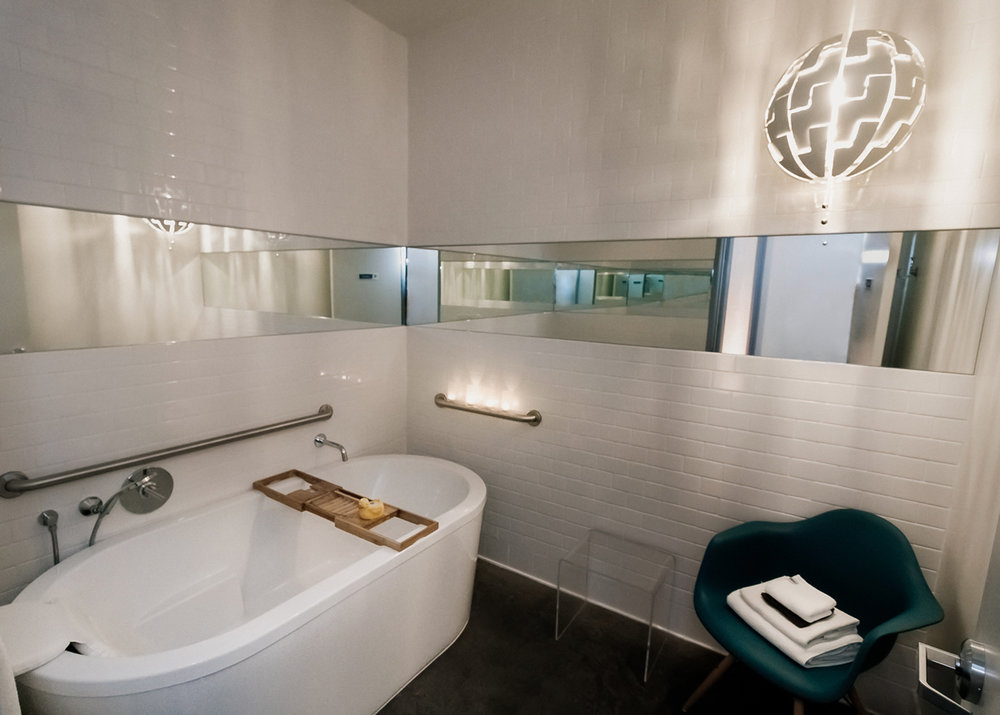 Guests can add a relaxing bath to their services.