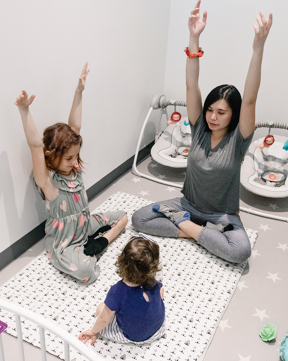 "Trained and certified nannies practice ""Innovative Creative Play"" to keep little ones highly engaged."