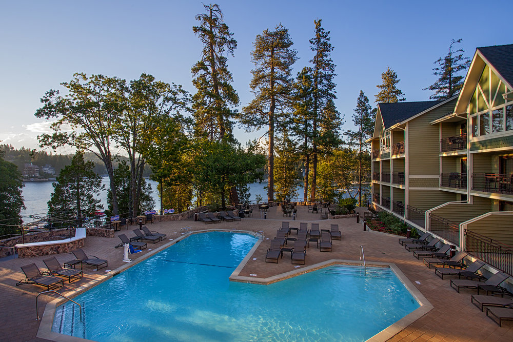 Lake Arrowhead Resort and Spa pool area.