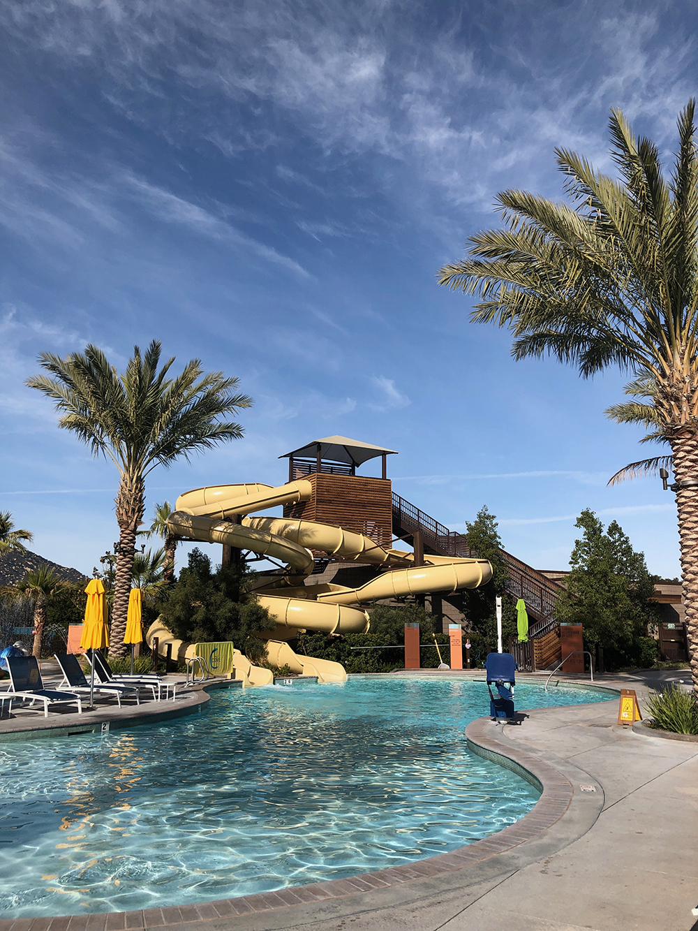 The Cove also has a Family Pool with two waterslides, a splash pad, and five spas.