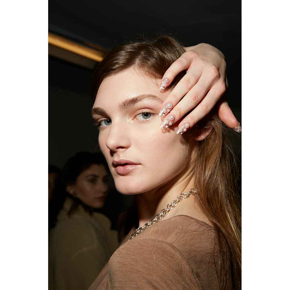 Nails at Adeam FW19 featured OPI's Tokyo Collection.