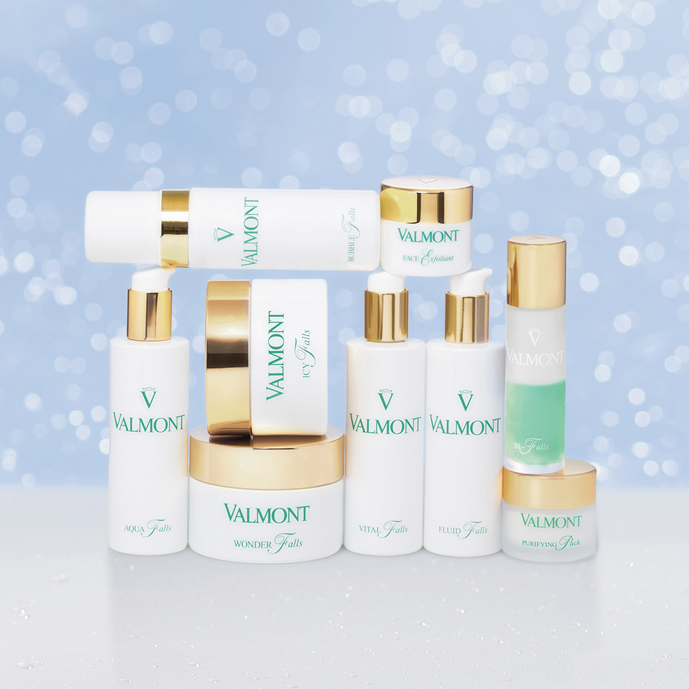 Valmont's Purity Collection is available in nine different textures for the ultimate sensory experience.
