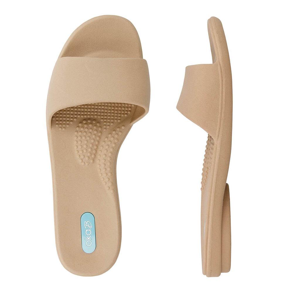 The Grace Slide Sandal ($28) in Chai.