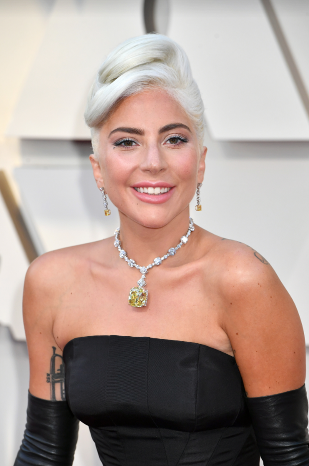 Stylist Frédéric Aspiras used Joico Defy Damage Protective Shield on Lady Gaga's hair for the 2019 Oscars.