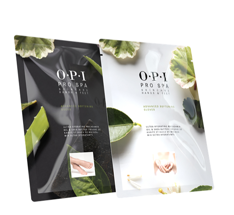 The softening gloves and socks are the newest addition to OPI's ProSpa line.