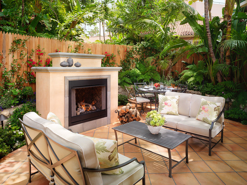 One of the bungalow's private outdoor terraces.