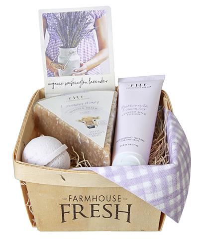 The FarmHouse Fresh Lavender Harvest Gift Basket.