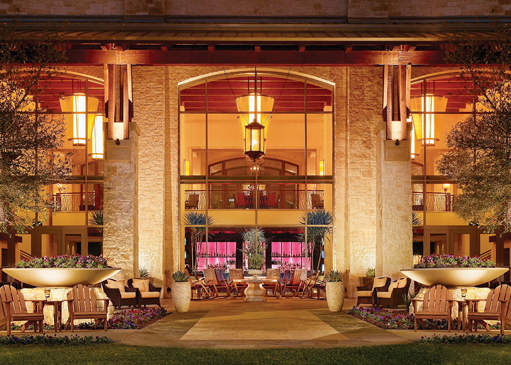 The back porch at the JW Marriott San Antonio Hill Country Resort & Spa.