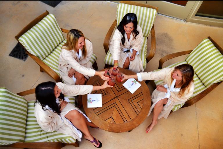 Guests enjoying a spa day at Lantana Spa.