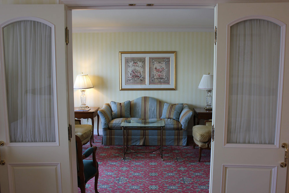 A look inside an executive suite at The Grand America.