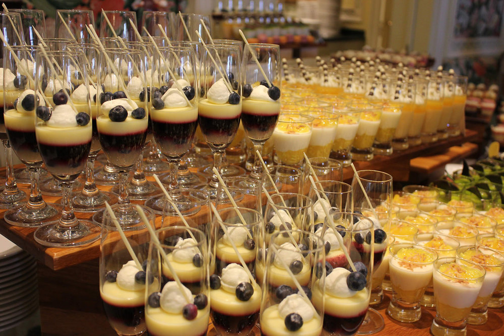 Delectable desserts at The Grand America's Sunday brunch.